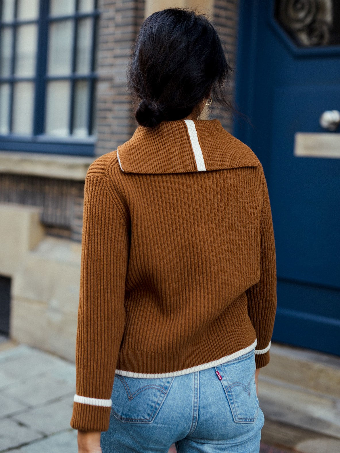 Janes - Half-zipped Sweater Tobacco
