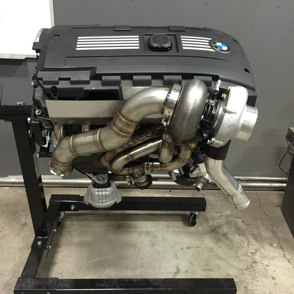Introducing Jpworks Bmw N54 Top Mount Manifolds: BMW 335i 135i N54 Top Mount Single Precision Turbo Kit