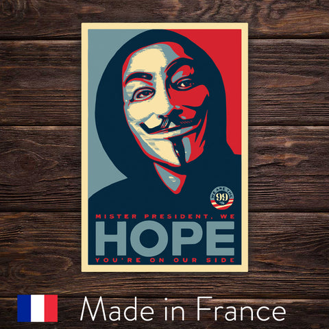 Anonymous HOPE - Shepard Fairey Style