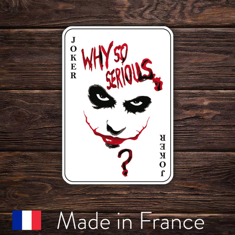 "Joker Card ""Why So Serious?"" - Movie"