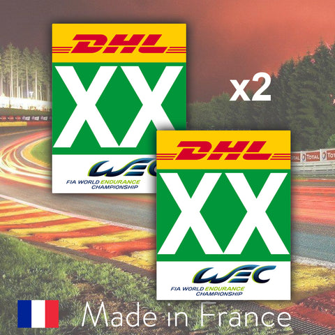 2 x 2018 Green Custom Number LMGTE Pro 24H Le Mans Number Plates