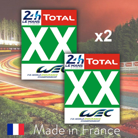 2 x 2019 Green Custom Number LMGTE Pro 24H Le Mans Number Plates
