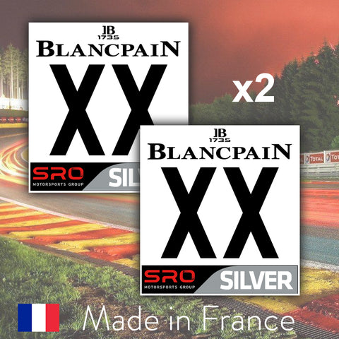 2 x 2019 Custom Number BlancPain SILVER Number Plates