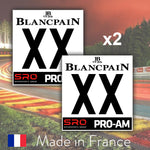 2 x 2019 Custom Number BlancPain PRO-AM Number Plates