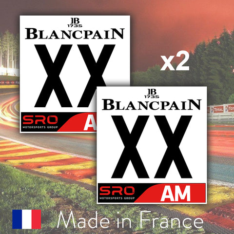 2 x 2019 Custom Number BlancPain AM Number Plates