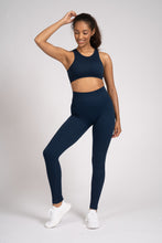 Load image into Gallery viewer, Navy Seamless Rib High Waist Leggings