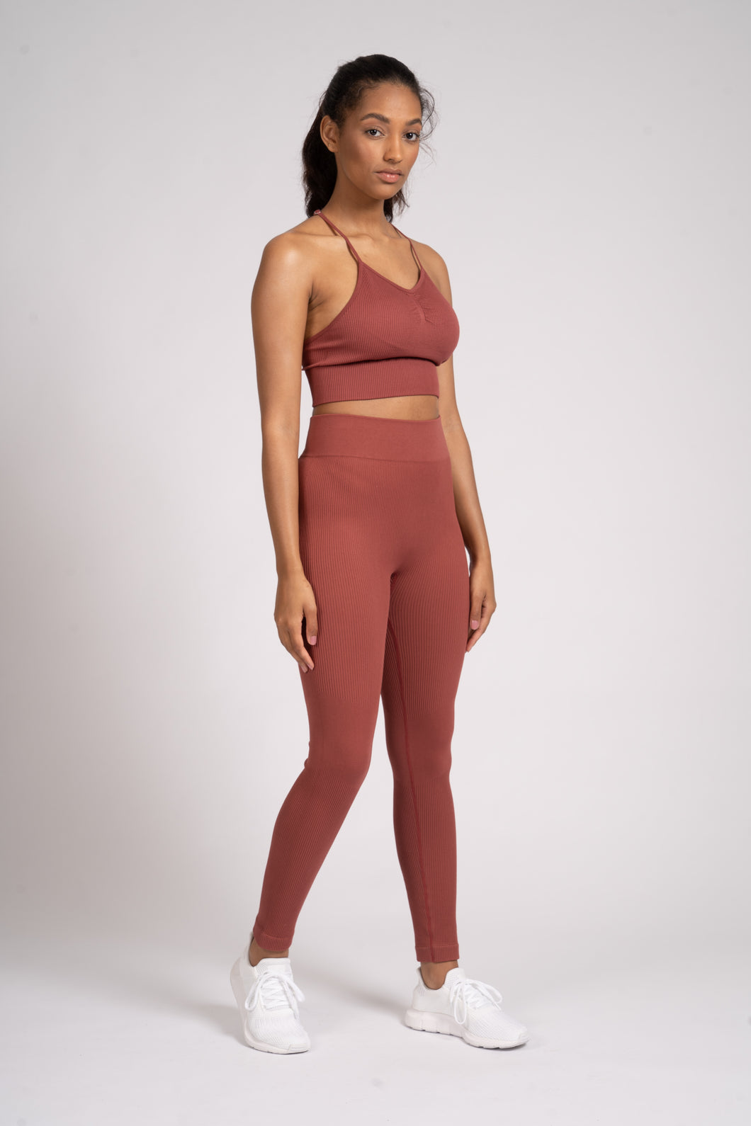 Seamless Rib High Waist Leggings
