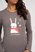 Load image into Gallery viewer, RED & BLACK CHRISTMAS BUNNY PJ SET