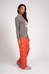 RED & BLACK CHRISTMAS BUNNY PJ SET