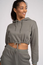 Load image into Gallery viewer, Khaki Cropped Hoodie.