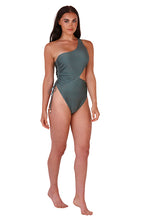 Load image into Gallery viewer, South Beach side cut out swimsuit in khaki