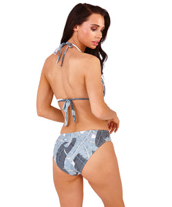 South Beach Palm Leaf Cut Out Swimsuit