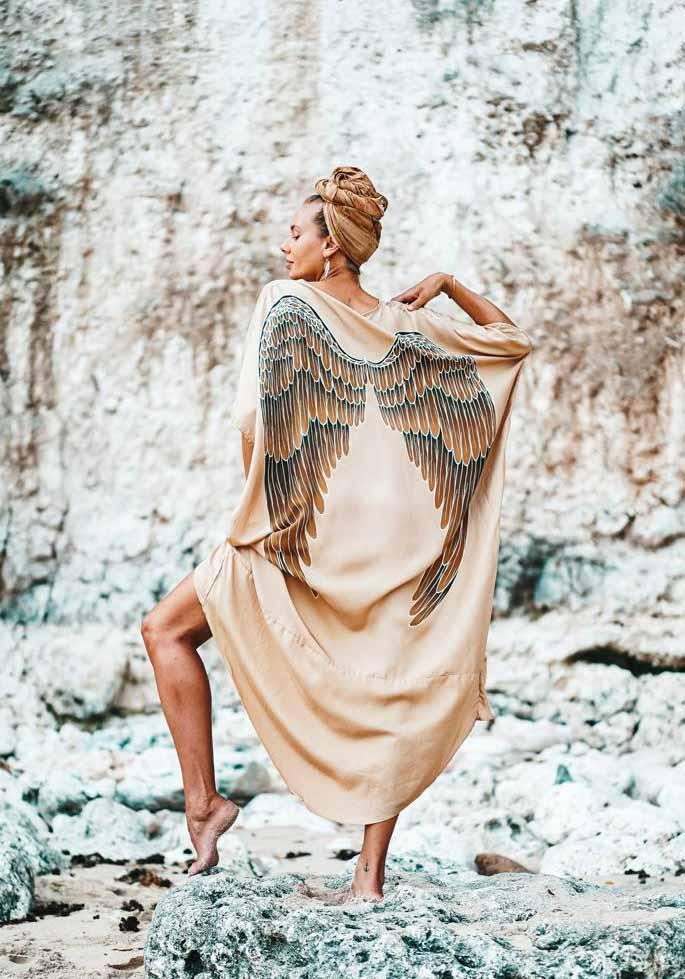 Angel Wing Kaftan Luxe - Golden Goddess