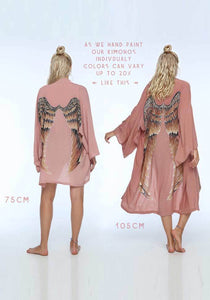 ARCHANGEL GABRIEL Angel Wing Everyday Kimono - Musk With Caramel Wings / One Size - 75cm Length