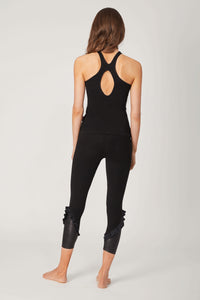 Halter Vest With Hole Front Detail Black M