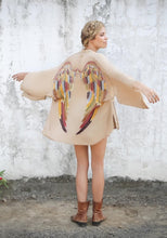 Load image into Gallery viewer, ARCHANGEL GABRIEL Angel Wing Everyday Kimono - Fawn with Autumn Warrior Wings - 75cm