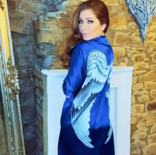 Load image into Gallery viewer, ARCHANGEL GABRIEL Angel Wing Kimono Luxe - Midnight Blue / 85cm