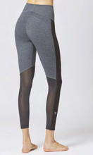 Load image into Gallery viewer, Medium Compression Leggings with Control Mesh Marl Grey