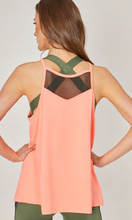 Load image into Gallery viewer, Loose Fit Sports Vest with Mesh Inset Coral