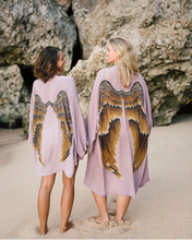 Load image into Gallery viewer, ARCHANGEL GABRIEL Angel Wing Everyday Kimono - 75cm Violet and Caramel Wings
