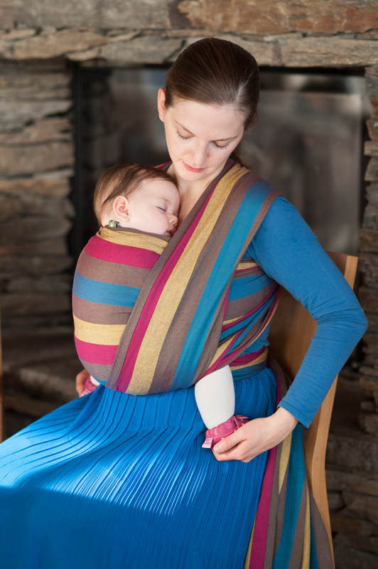 LL Long Woven Baby Wrap - BROKEN TWILL WEAVE, 100% COTTON, FOREST MEADOW - The Birth Shop