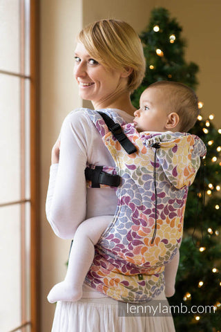ERGONOMIC CARRIER - JACQUARD WEAVE 100% COTTON - COLORS OF LIFE - The Birth Shop