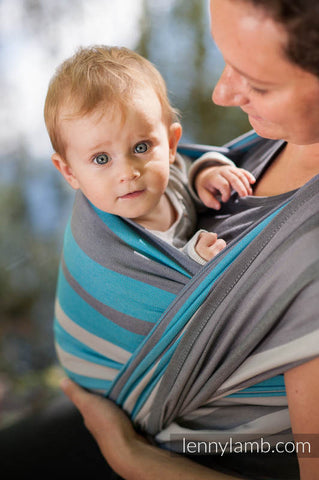 BABY SLING, BROKEN TWILL WEAVE, 100% COTTON, MISTY MORNING - SIZE S (GRADE B)