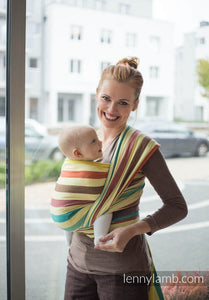 BABY SLING, BROKEN TWILL WEAVE, 100% COTTON, Sunny Smile - SIZE XS - 4 - The Birth Shop