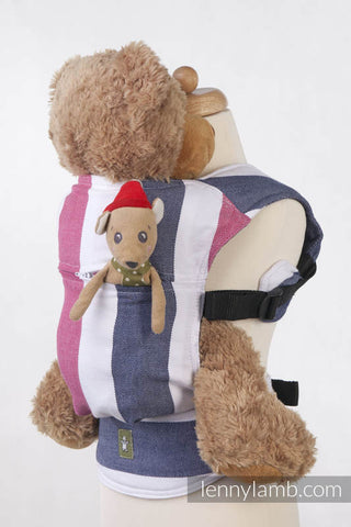 DOLL CARRIER MADE OF WOVEN FABRIC, 60% COTTON 40 % BAMBOO - MARINE - The Birth Shop