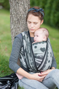 LL LONG WOVEN BABY WRAP JACQUARD WEAVE (100% COTTON) - GLAMOROUS LACE - The Birth Shop