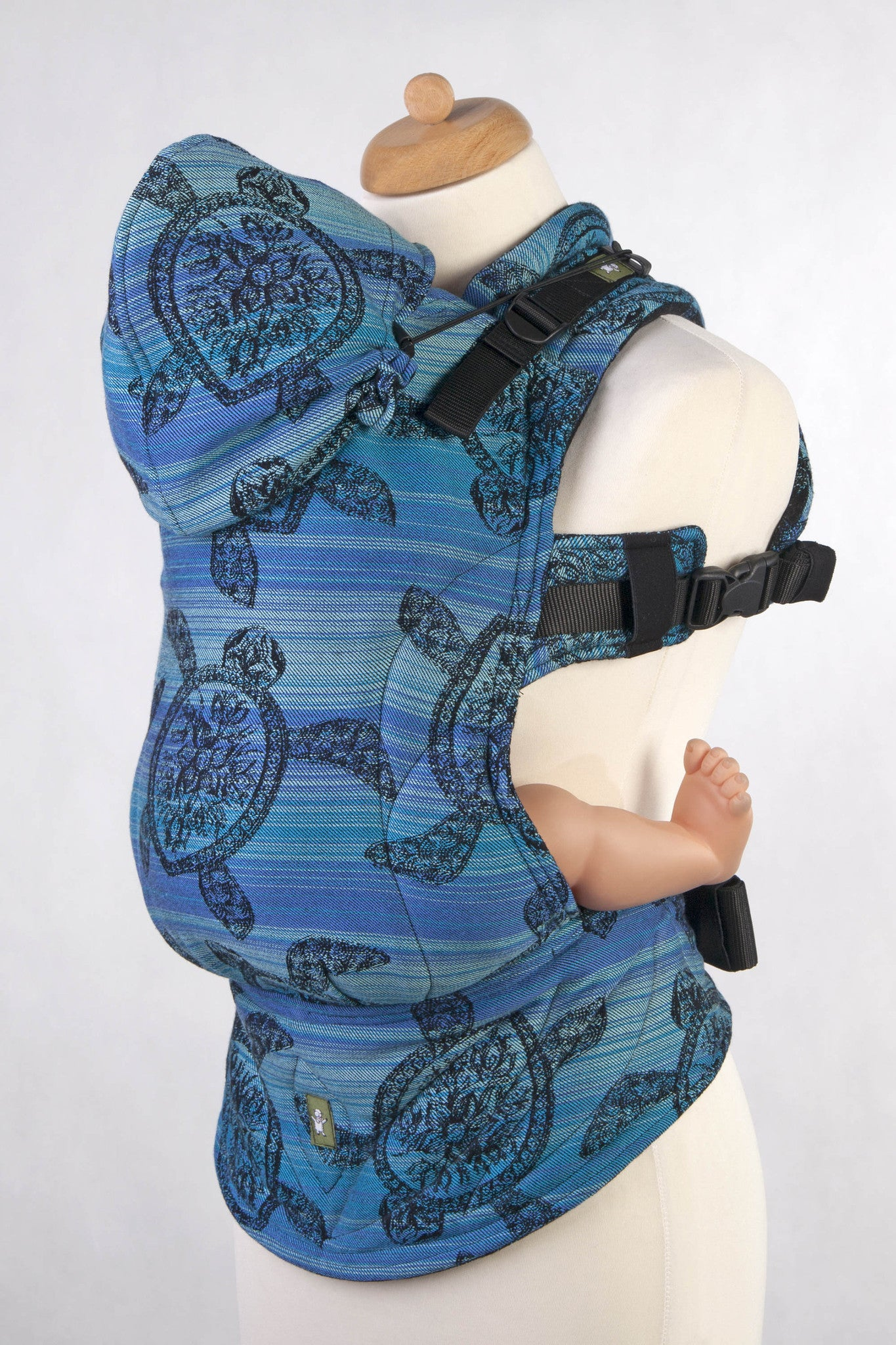 ERGONOMIC CARRIER BABY SIZE JACQUARD WEAVE COTTON WRAP CONVERSION FROM SEA