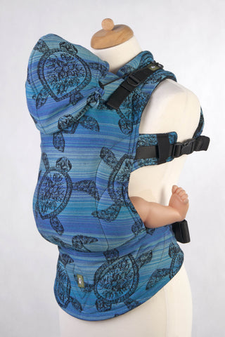 ERGONOMIC CARRIER, BABY SIZE, JACQUARD WEAVE 100% COTTON - WRAP CONVERSION FROM SEA ADVENTURE DARK - SECOND GENERATION - The Birth Shop