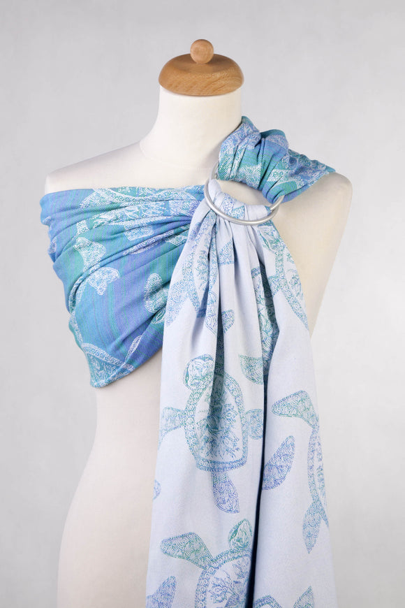 RINGSLING, JACQUARD WEAVE (100% COTTON) - SEA ADVENTURE LIGHT - The Birth Shop