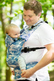 ERGONOMIC CARRIER, BABY SIZE, JACQUARD WEAVE 100% COTTON - WRAP CONVERSION FROM BLUE CAMO - SECOND GENERATION