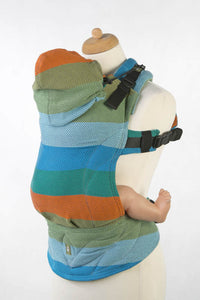 ERGONOMIC CARRIER, BABY SIZE, HERRINGBONE WEAVE 100% COTTON - WRAP CONVERSION FROM LITTLE HERRINGBONE LANTANA - SECOND GENERATION - The Birth Shop