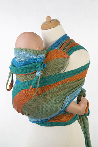 WRAP-TAI CARRIER MINI WITH HOOD/ HERRINGBONE TWILL / 100% COTTON / LITTLE HERRINGBONE LANTANA - The Birth Shop