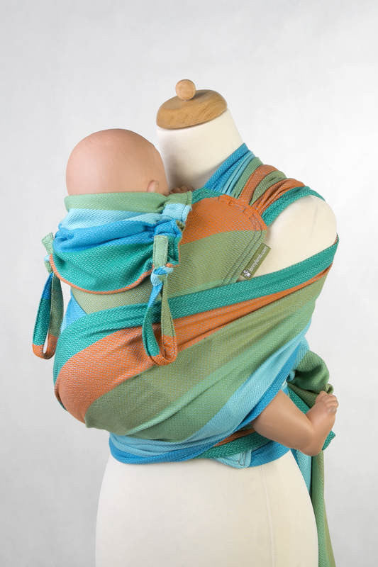 WRAP-TAI CARRIER MINI WITH HOOD/ HERRINGBONE TWILL / 100% COTTON / LITTLE HERRINGBONE SUNFLOWER - The Birth Shop