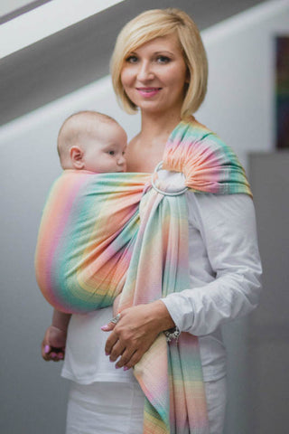 RINGSLING, HERRINGBONE WEAVE (100% COTTON) - WITH GATHERED SHOULDER - LITTLE HERRINGBONE IMAGINATION
