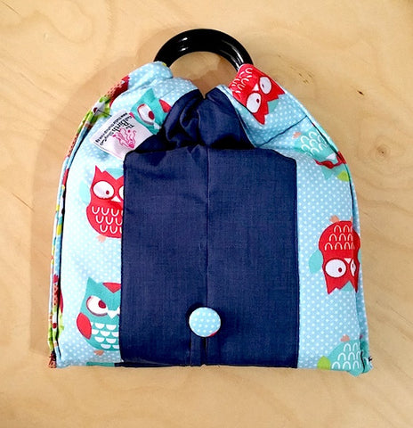 Basic Cotton - Blue Owl Dots - Navy - The Birth Shop