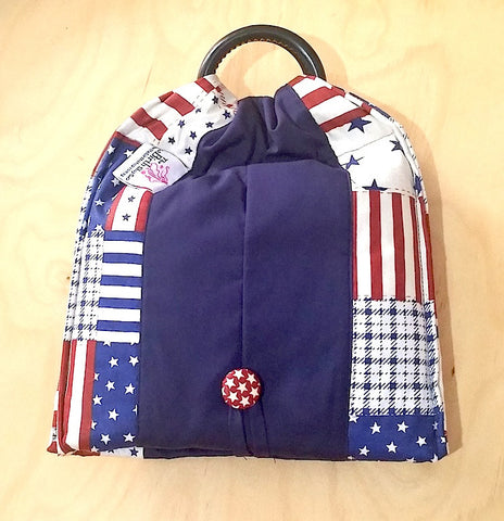 Basic Cotton - Flags-Stars - Navy - The Birth Shop