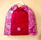 Basic Cotton - Red Batik - Maroon - The Birth Shop