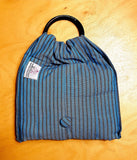 Basic Cotton - Steel Blue - Grey Stripes - The Birth Shop