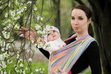 LL LONG WOVEN BABY SLING BROKEN TWILL WEAVE (BAMBOO + COTTON) - SUNRISE RAINBOW - The Birth Shop