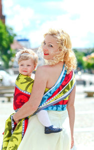LONG WOVEN BABY WRAP, MOVIE STAR (Size M - 6) - The Birth Shop