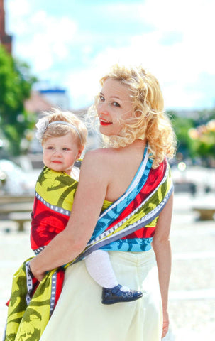 LL LONG WOVEN BABY WRAP, JACQUARD WEAVE (100% COTTON) - MOVIE STAR (Size M - 6) - The Birth Shop