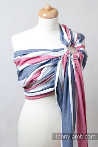 RING SLING, BROKEN TWILL WEAVE (BAMBOO + COTTON), WITH GATHERED SHOULDER - MARINE