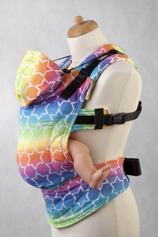 ERGONOMIC CARRIER JACQUARD WEAVE 100% COTTON - WRAP CONVERSION - RAINBOW STARS - The Birth Shop