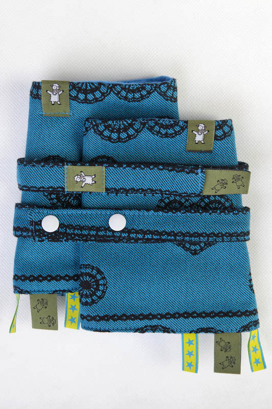 DROOL PADS & REACH STRAPS SET for baby carrier - Divine, REVERSE - The Birth Shop