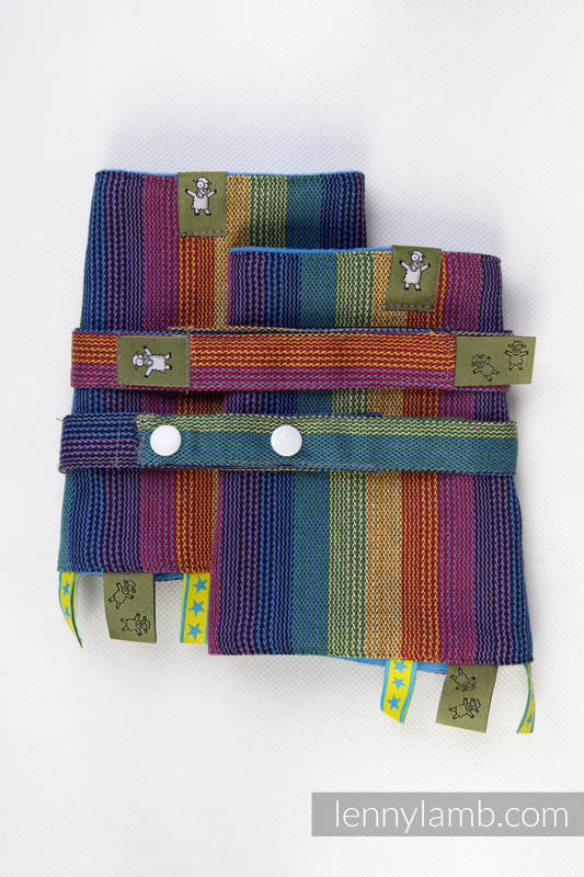 DROOL PADS & REACH STRAPS SET, (100% COTTON) - PARADISO COTTON - The Birth Shop