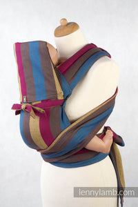 MEI-TAI CARRIER MINI, BROKEN-TWILL WEAVE - 100% COTTON - WITH HOOD, FOREST MEADOW - The Birth Shop